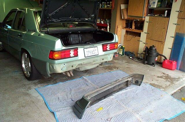 Service manual 1985 mercedes benz w201 front bumper for Mercedes benz 190e front bumper