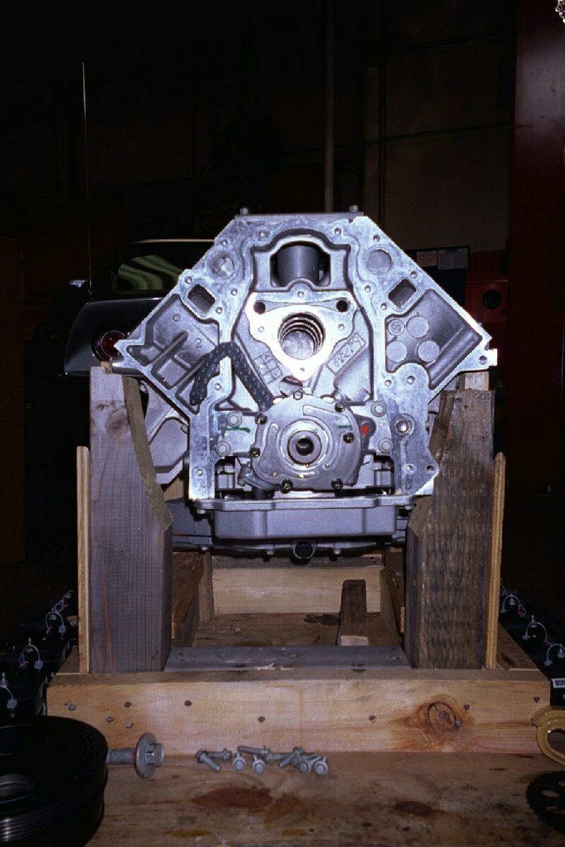 Painted Engine Components